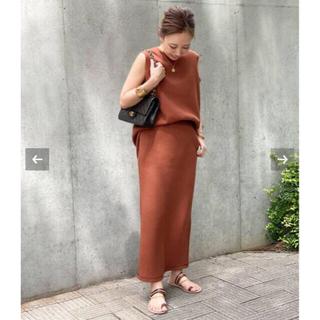 ドゥーズィエムクラス(DEUXIEME CLASSE)の新品タグ付き AMERICANA THERMAL プルオーバ&スカート(セット/コーデ)