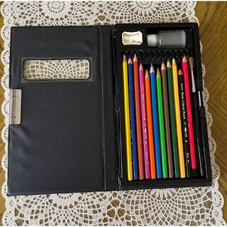 サクラクレパス(サクラクレパス)の【美品】サクラクレパス 水彩色鉛筆 12色 筆付き(色鉛筆)