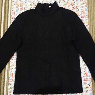 メイドインワールド(MADE IN WORLD)の。黒色のレース調プルオーバーのハイネックセーター(ニット/セーター)