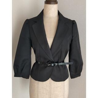 イマージュ(IMAGE)の黒 七分袖テーラージャケット(テーラードジャケット)