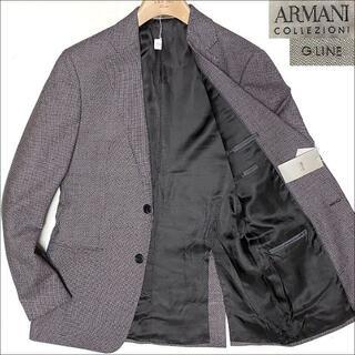 ARMANI COLLEZIONI - J5144 新品 アルマーニ ゴールドライン 秋冬 フランネルジャケット46