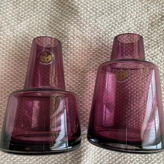 イッタラ(iittala)の珈琲屋2様専用 ホルムガード Flora  花瓶 12cm  パープル(花瓶)