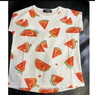 クレードスコープ(kladskap)のPOP総柄ドルマンスリーブ半袖Tシャツ 110(Tシャツ/カットソー)