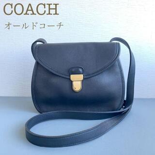 ウェンディズアンドフットザコーチャー(Wendy's & foot the coacher)のCOACHオールドコーチ ショルダーバッグ黒ブラック80年代マディソンレザー本革(ショルダーバッグ)