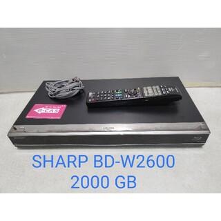 AQUOS - 2TB  SHARP AQUOS ブルーレイ BD-W2600