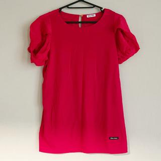 ミュウミュウ(miumiu)のmiumiu(Tシャツ(半袖/袖なし))