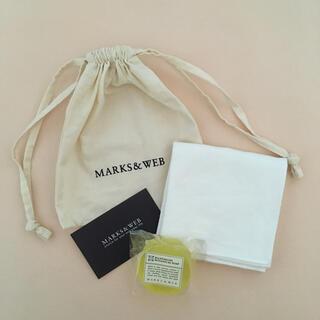 マークスアンドウェブ(MARKS&WEB)の【送料込み】MARKS&WEB  石鹸・ハンカチ・ポーチのセット 新品(ハンカチ)