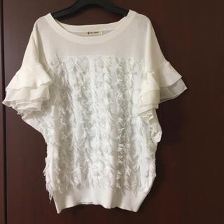 ブージュルード(Bou Jeloud)のブージュルード ティアードシフォンプルオーバー 白(Tシャツ(半袖/袖なし))