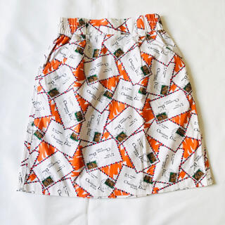 クリスチャンディオール(Christian Dior)のChristian Dior スカート ロゴ 手紙柄 総柄(ひざ丈スカート)