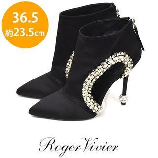 ロジェヴィヴィエ(ROGER VIVIER)の美品♪ロジェヴィヴィエ ラインストーン ビジュー ブーツ 36.5(約23.5(ブーツ)