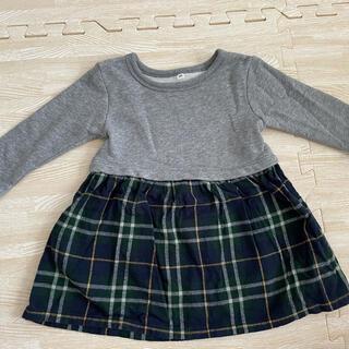 ムジルシリョウヒン(MUJI (無印良品))のワンピース2点セット ベビー服 80サイズ(ロンパース)
