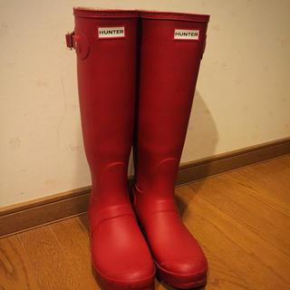 ハンター(HUNTER)のHUNTER 赤 長靴 これからの雪の時期に!(レインブーツ/長靴)