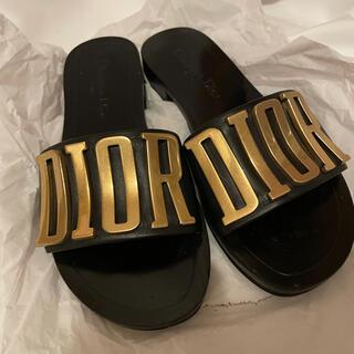 クリスチャンディオール(Christian Dior)のChristian Dior クリスチャン・ディオール ロゴ サンダル36(サンダル)