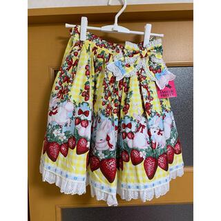 アンジェリックプリティー(Angelic Pretty)のRibbon Berry Bunnyスカート(ひざ丈スカート)