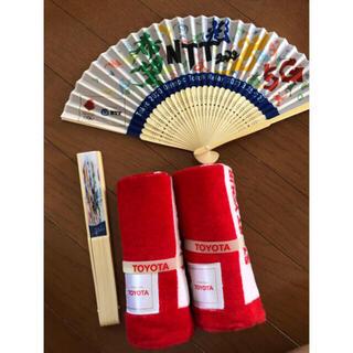 トヨタ(トヨタ)のタオル オリンピック 東京2020 扇子(タオル/バス用品)