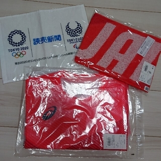 アシックス(asics)の東京オリンピック  Tシャツ&タオル(ノベルティグッズ)