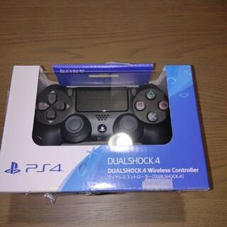 ソニー(SONY)の新品 PlayStation4 コントローラー ジェットブラック 純正(その他)