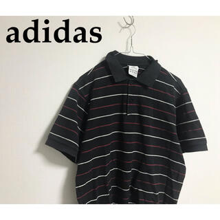 アディダス(adidas)の古着 adidas アディダス ポロシャツ ボーダー ユニセックス(ポロシャツ)