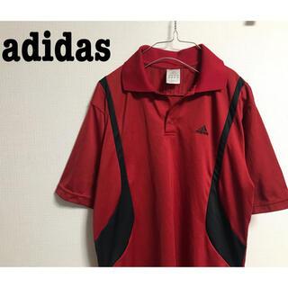 アディダス(adidas)の古着 adidas アディダス ポロシャツ ゆったり シャツ ライン 半袖(ポロシャツ)