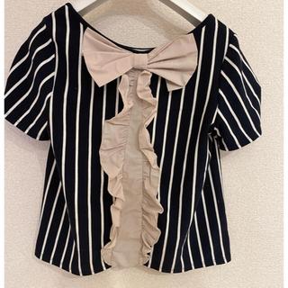 ランバンオンブルー(LANVIN en Bleu)のランバンオンブルー Tシャツ リボン(Tシャツ(半袖/袖なし))