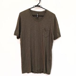 ニールバレット(NEIL BARRETT)のニールバレット 無地スラブ Vネック Tシャツ(Tシャツ/カットソー(半袖/袖なし))