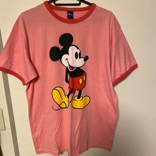 ミッキーマウス(ミッキーマウス)のミッキーシャツ タン(Tシャツ/カットソー(半袖/袖なし))