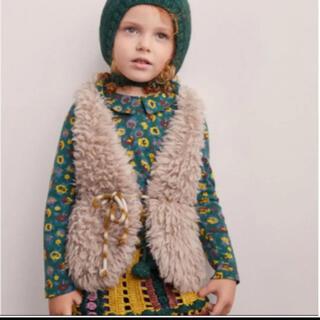 キャラメルベビー&チャイルド(Caramel baby&child )の【完売】misha&puff Kid Fur Vest Harbor Grey(その他)