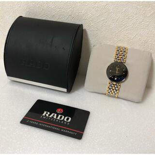 ラドー(RADO)の【美品】スイス老舗ブランド RADO/ラドー フローレンス 黒文字盤(腕時計(アナログ))