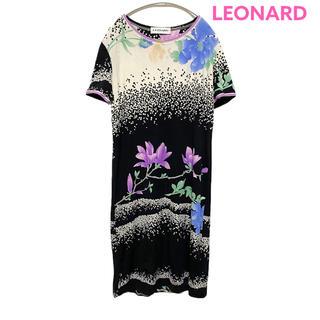 レオナール(LEONARD)の●LEONARD PARIS/ワンピース/花柄/高級ライン/インポート●(ひざ丈ワンピース)