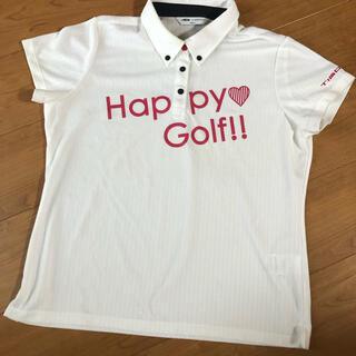 ティゴラ(TIGORA)の半袖ポロシャツ ティゴラTIGORA 白系レディースゴルフ LL(ウエア)