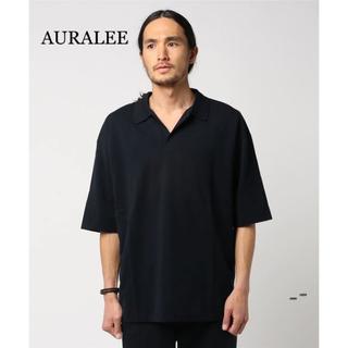コモリ(COMOLI)のAURALEE ハイゲージ ピケ ダブルクロス スキッパー ポロシャツ 5(ポロシャツ)