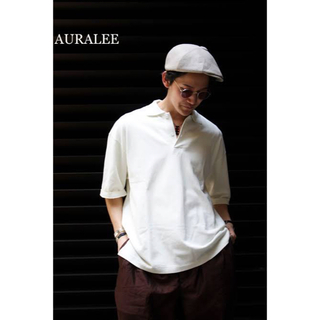 コモリ(COMOLI)のAURALEE ハイゲージ ピケ ダブルクロス スキッパー ポロシャツ 4(ポロシャツ)
