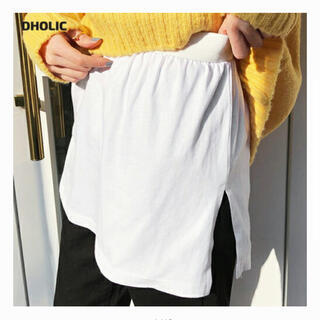 ディーホリック(dholic)のDHOLIC スリットレイヤードTシャツ☆2枚セット(Tシャツ/カットソー(半袖/袖なし))