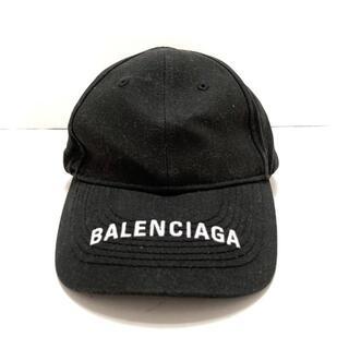 バレンシアガ(Balenciaga)のバレンシアガ キャップ - 黒×白 コットン(キャップ)