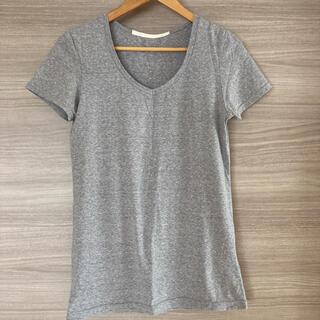 ヨシオクボ(yoshio kubo)のミュラーオブヨシオクボ Tシャツ ライトグレー Vネック(Tシャツ(半袖/袖なし))