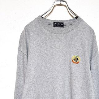 バーバリー(BURBERRY)のBurberrys バーバリー 刺繍 アーカイブロゴ 長袖 Tシャツ US古着(Tシャツ/カットソー(七分/長袖))