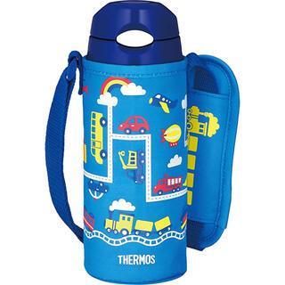 サーモス(THERMOS)のサーモス 水筒 真空断熱ストローボトル 400ml ブルーネイビー 保冷専用(水筒)