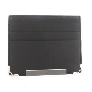 カルティエ(Cartier)のカルティエ カードケース美品  黒 レザー(名刺入れ/定期入れ)