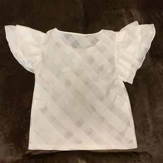 ランバンオンブルー(LANVIN en Bleu)のランバンオンブルー フリルブラウス(シャツ/ブラウス(半袖/袖なし))