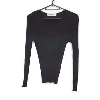 クロエ(Chloe)のクロエ 長袖セーター サイズ40 M美品  - 黒(ニット/セーター)