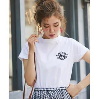 ドゥロワー(Drawer)のSEVENTEN セブンテン 刺繍Tシャツ(Tシャツ(半袖/袖なし))