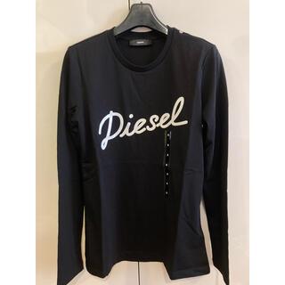 ディーゼル(DIESEL)の新品未使用!ディーゼル カットソーtシャツ ブラックS(Tシャツ(長袖/七分))
