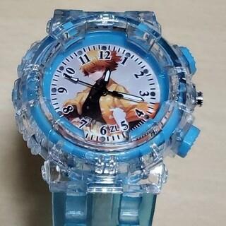 残り1個 鬼滅の刃 クォーツ腕時計 ブルー あがつまぜんいつ ウォッチ (キャラクターグッズ)