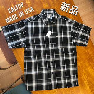 カルトップ(CALTOP)の新品 CALTOP USA製 半袖シャツ カルトップ キャルトップ S 半袖(シャツ)