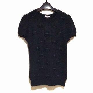 トッカ(TOCCA)のトッカ 半袖セーター サイズM M - 黒(ニット/セーター)