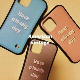 ドゥーズィエムクラス(DEUXIEME CLASSE)のOriginal iPhone case アメリカンビンテージ デザイン(iPhoneケース)