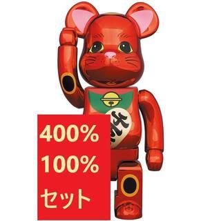 メディコムトイ(MEDICOM TOY)のMEDICOM TOY BE@RBRICK 梅金メッキ 100% & 400%(その他)