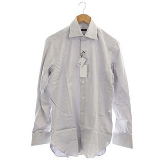 バルバ(BARBA)のバルバ コットンシャツ 長袖 前開き 39 グレー 青 ブルー /CM ■OS(シャツ)