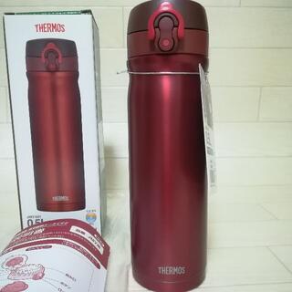 サーモス(THERMOS)の新品 THERMOS 水筒 0.5L レッド ステンレスボトル サーモス 広口(水筒)