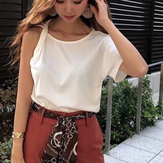 リゼクシー(RESEXXY)の新品 RESEXXY リゼクシー アシメトップス ツイストTシャツ(Tシャツ(半袖/袖なし))